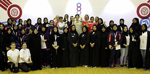Group photo from the participants of Sharjah Women Sports Cup 2017