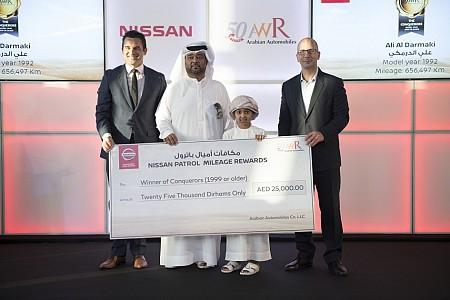 Arabian Automobiles Announces Winners of 'Patrol Mileage
