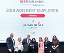 Jumeirah recognized as Aon Hewitt 2018 Best Employer in UAE