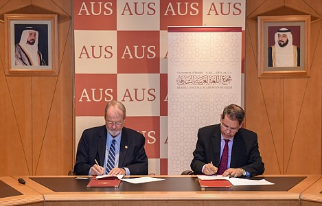 AUS signs MoU with Arabic Language Academy in Sharjah to