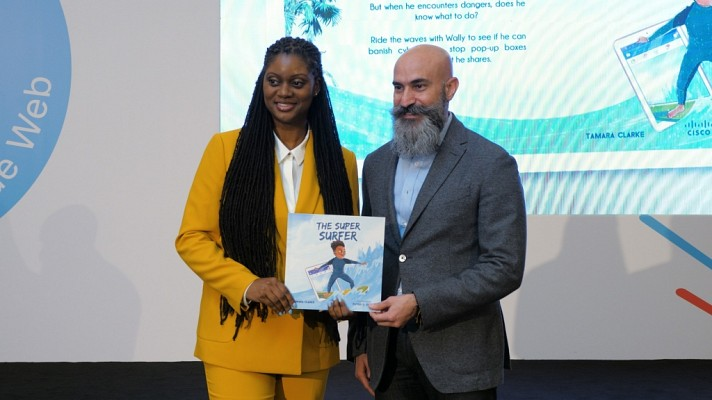 Tamara Clarke and Shukri Eid launching The Super Surfer book