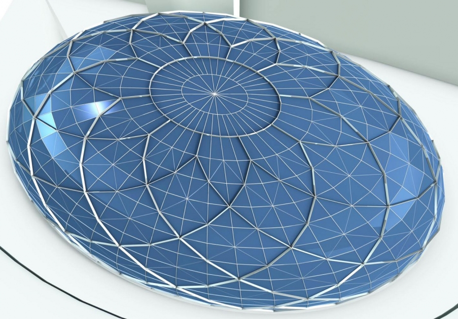 Openaire builds giant dome skylight for giant mall in for Skylight net login